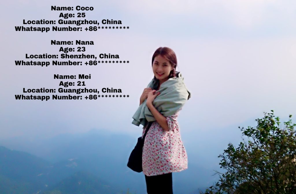 Chinese girls Whatsapp Numbers for friendship